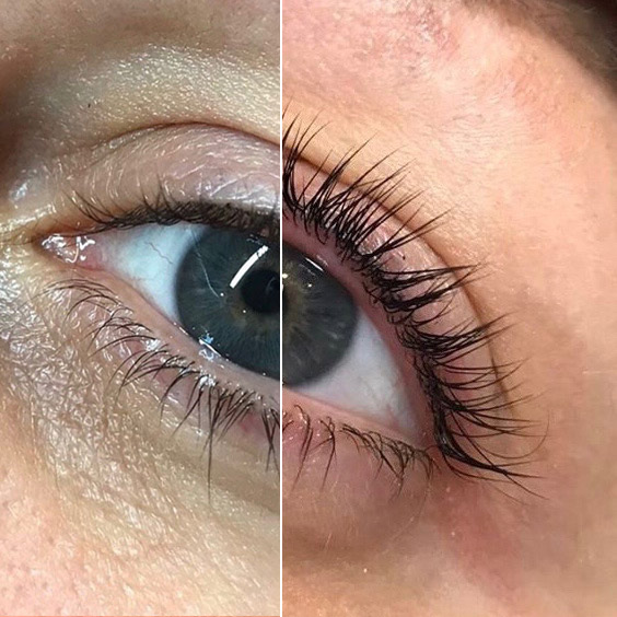 lash lift and tinting before & after treatment in Hoddesdon